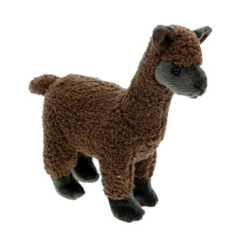 Speelgoed knuffels bruine alpaca 23 cm