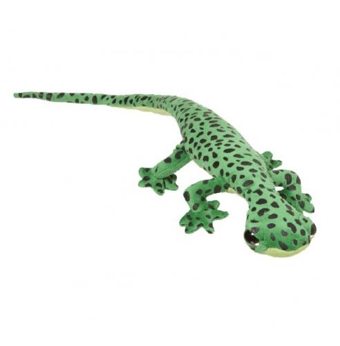 Speelgoed pluche gekko groen 62 cm
