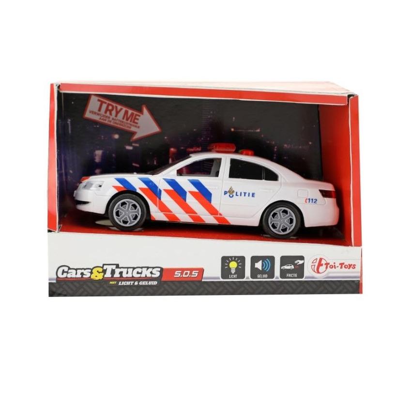 Speelgoed politieauto met licht en geluid 5.5 x 16 x 6 cm