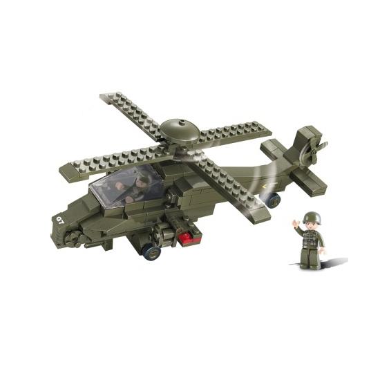 Speelgoed Sluban bouwstenen gevechtshelikopter 28.5 cm