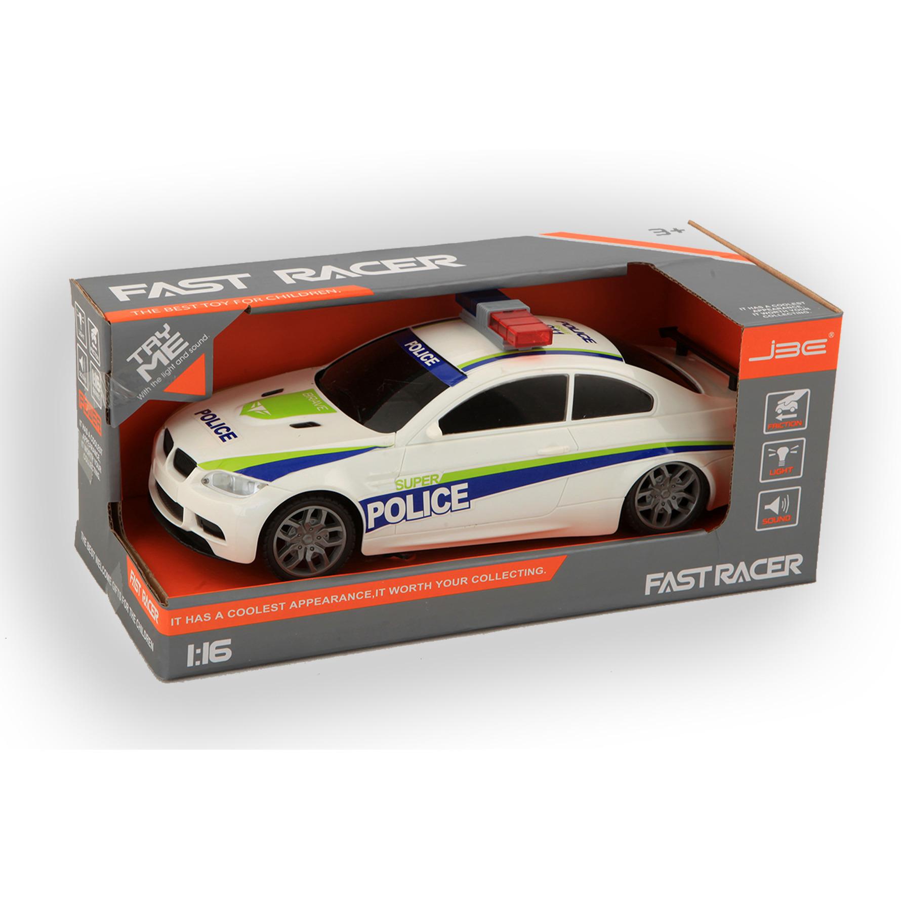 Speelgoed snelweg politie auto met licht en geluid 24 cm