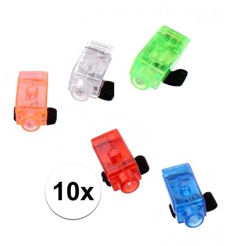 Speelgoed vingerlampjes 10 stuks