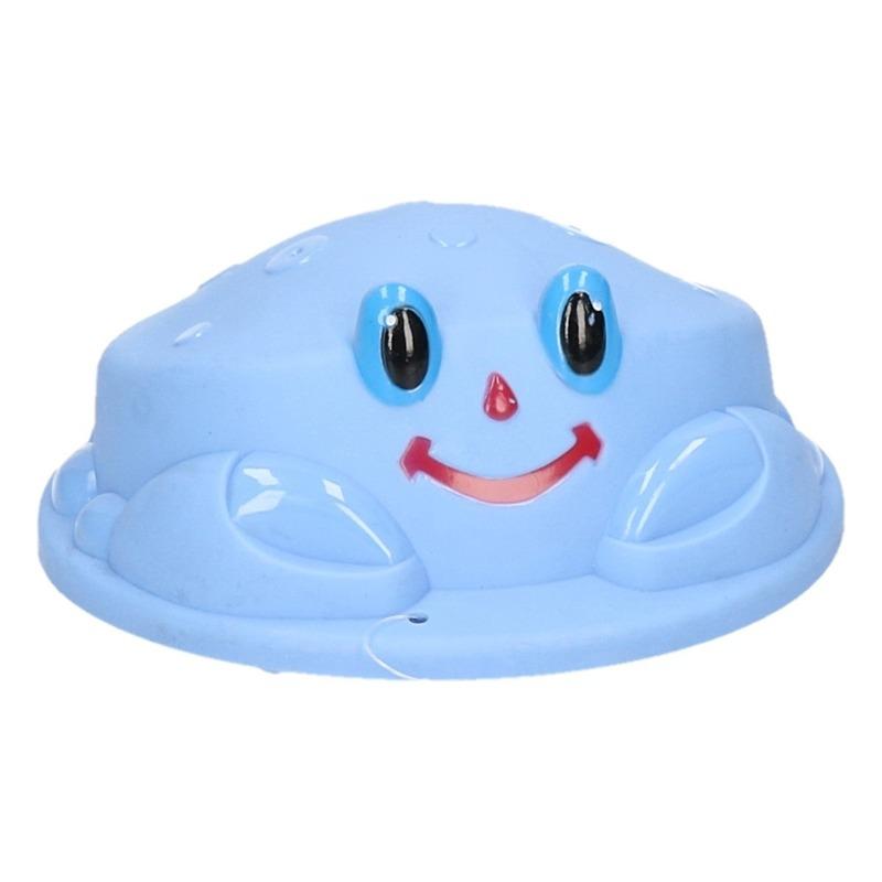 Speelgoed zandvorm krab blauw