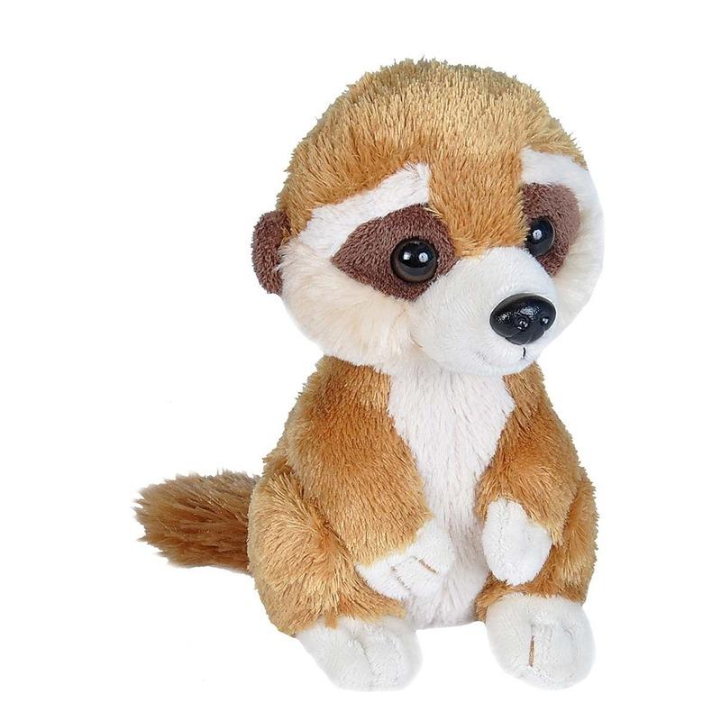 Stokstaartjes speelgoed artikelen baby stokstaartje knuffelbeest bruin 18 cm