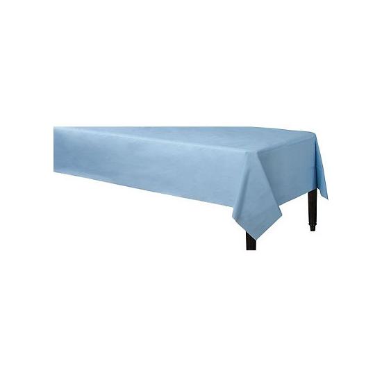 Tafelkleed lichtblauw 140 x 240 cm van plastic