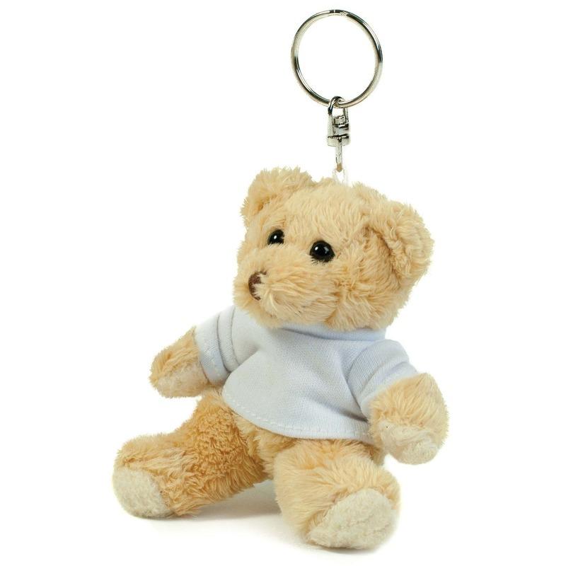 Teddybeer/beren sleutelhangers 10 cm