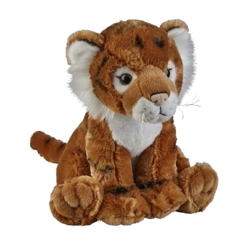 Tijgers speelgoed artikelen tijger knuffelbeest bruin 30 cm