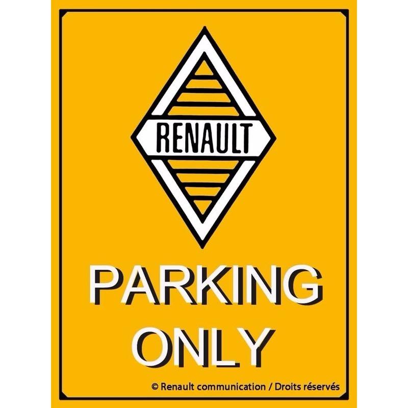 Tinnen wandplaat Renault