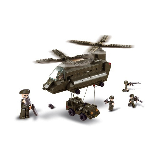 transporthelikopter bouwsteentjes