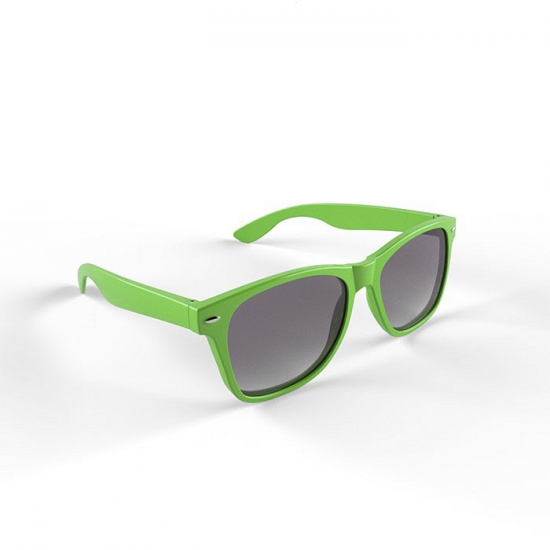 Trendy limegroen montuur zonnebril