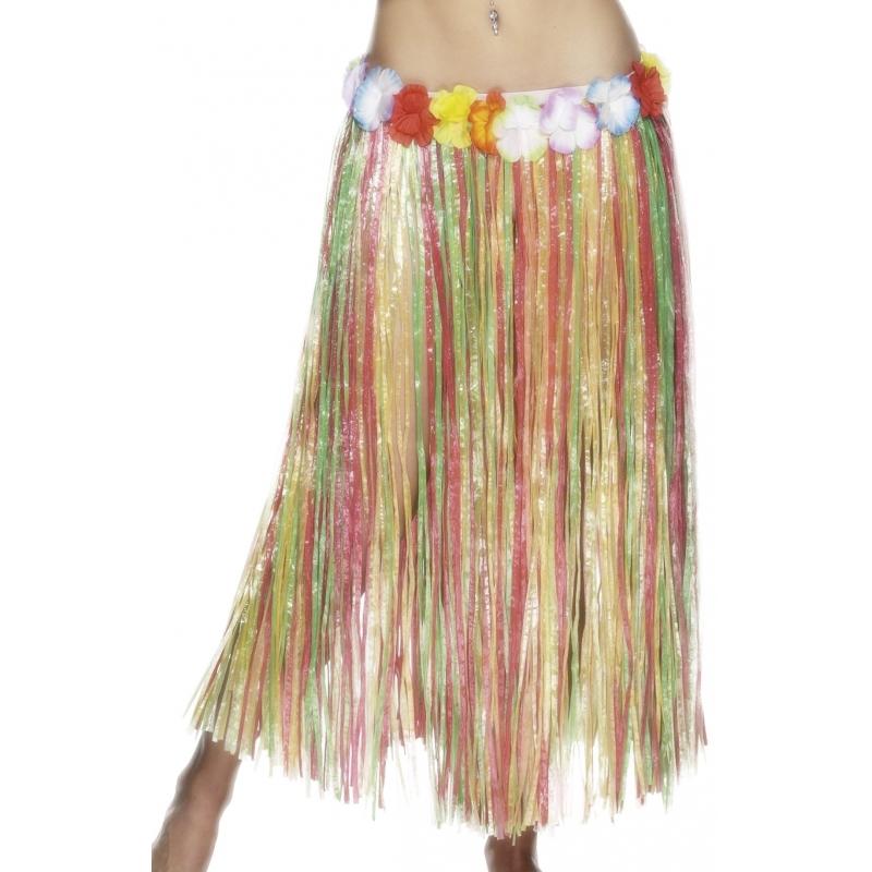 Tropische rok gekleurd 80 cm