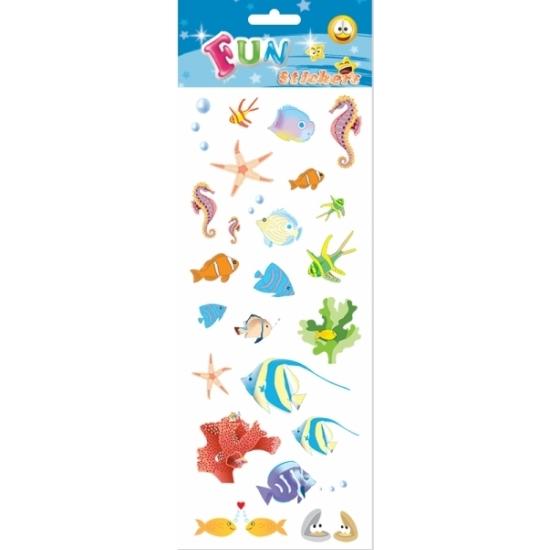 Tropische vissen stickervellen