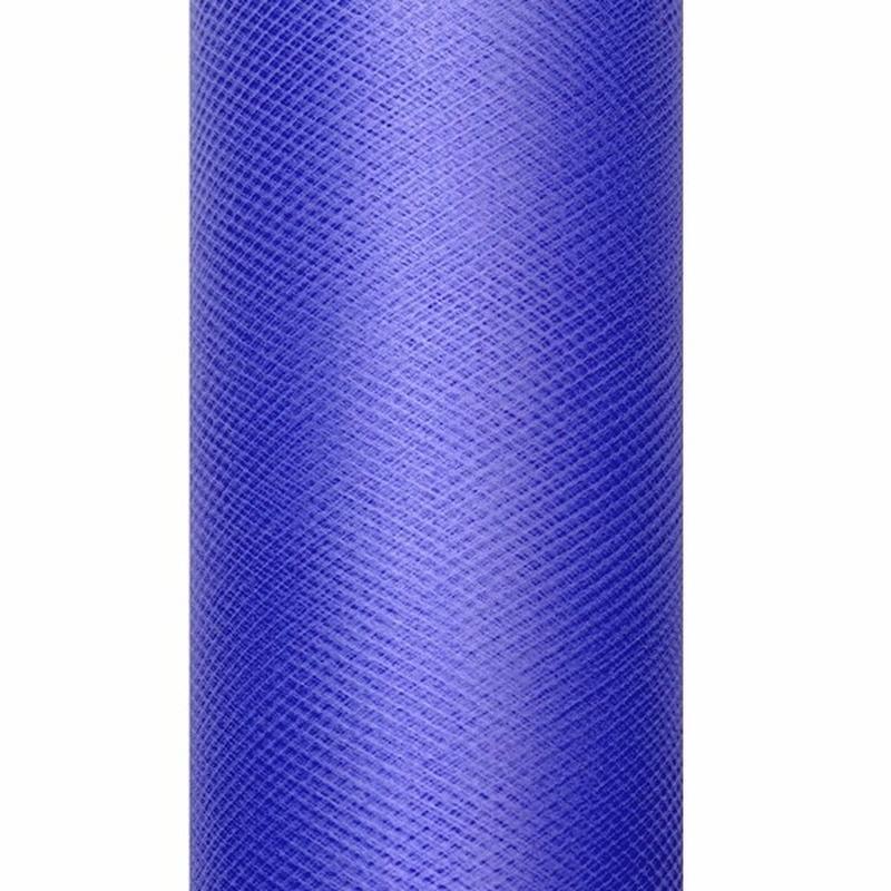 Tule stof blauw 50 cm breed