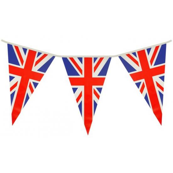 Union Jack/UK/Groot Brittanie vlaggenlijnen 7 meter