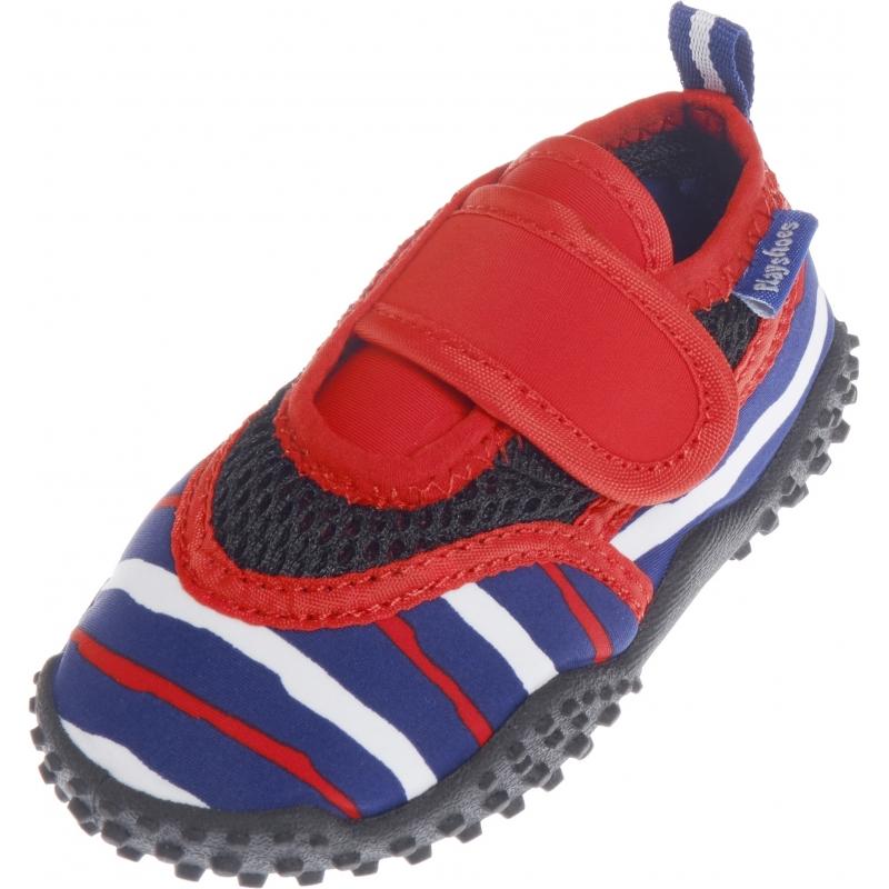 UV waterschoenen blauw/rood gestreept voor kinderen
