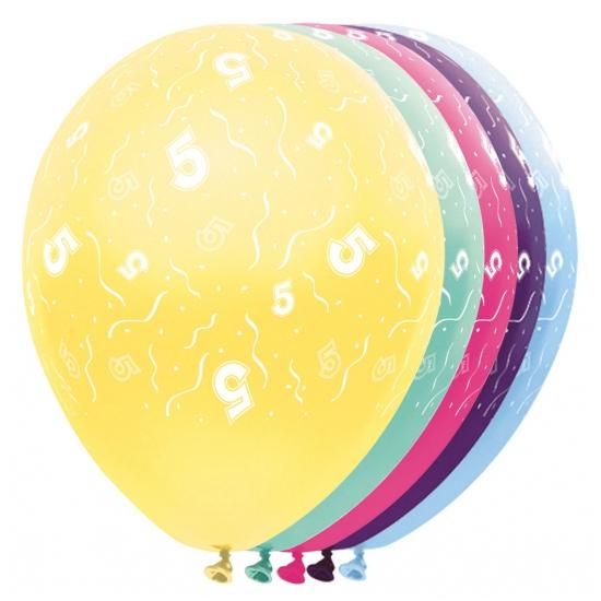 Verjaardag 5 jaar helium ballonnen
