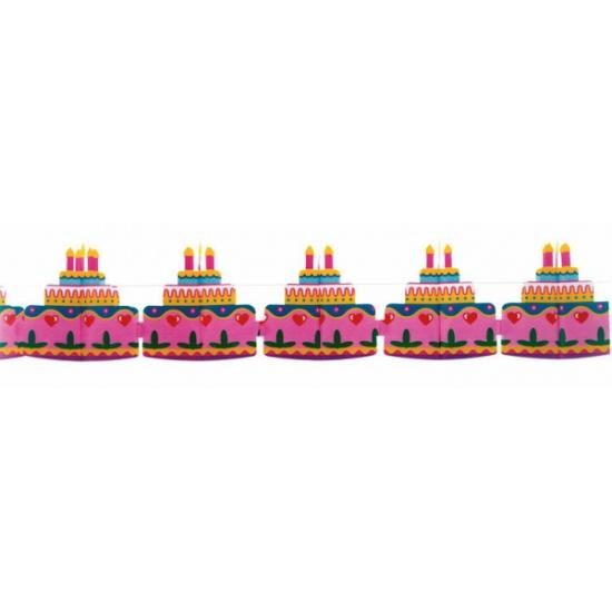 Verjaardagsslinger met taart afbeeldingen