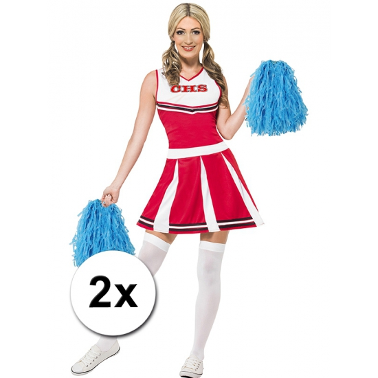 Verkleed cheerballs blauw 2x