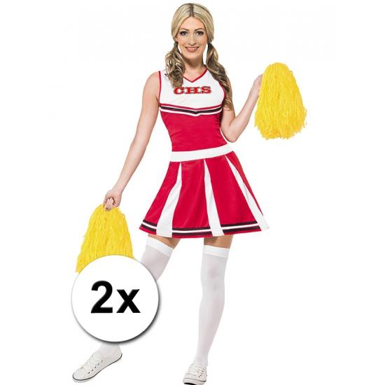 Verkleed cheerballs geel 2x