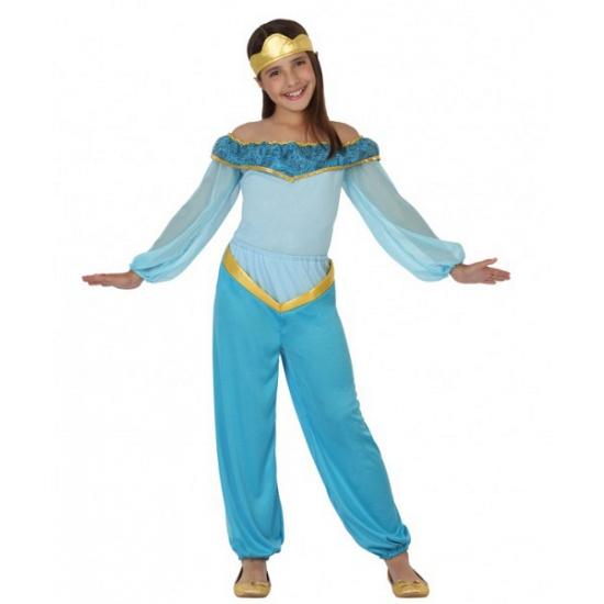 Verkleedkleding blauwe arabische prinses