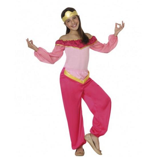 Verkleedkleding roze arabische prinses