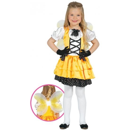 Verkleedkleding vlinder kostuum geel