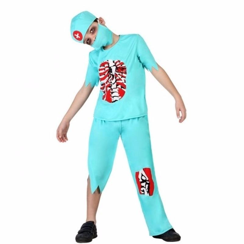 Verkleedset zombie dokter voor jongens 4 delig