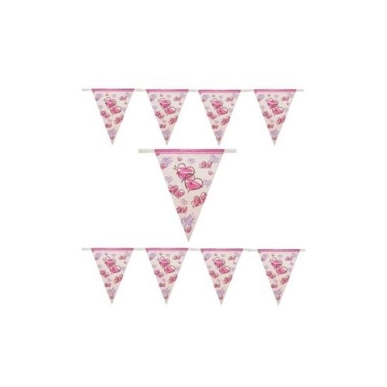 Vlaggenlijn met hartjes print 10 meter