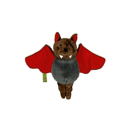 Vleermuizen knuffel rood 14 cm