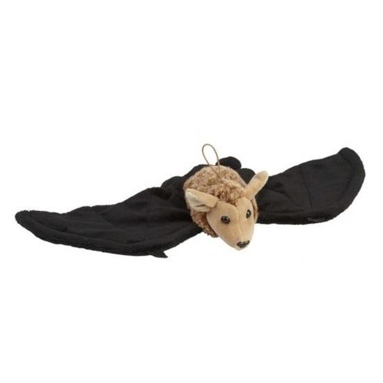 Vleermuizen speelgoed artikelen vleermuis knuffelbeest zwart/bruin 45 cm