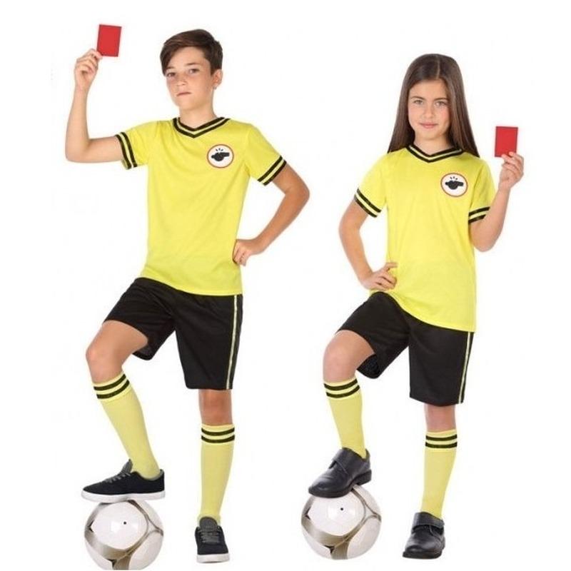Voetbal scheidsrechter verkleed kostuum voor kinderen