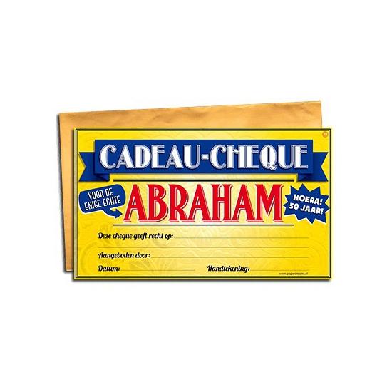 Voor de Abraham gift cheque