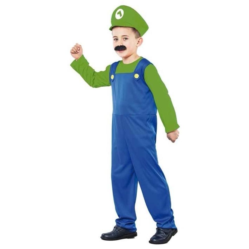 Voordelig groen Loodgieter kostuum voor jongens