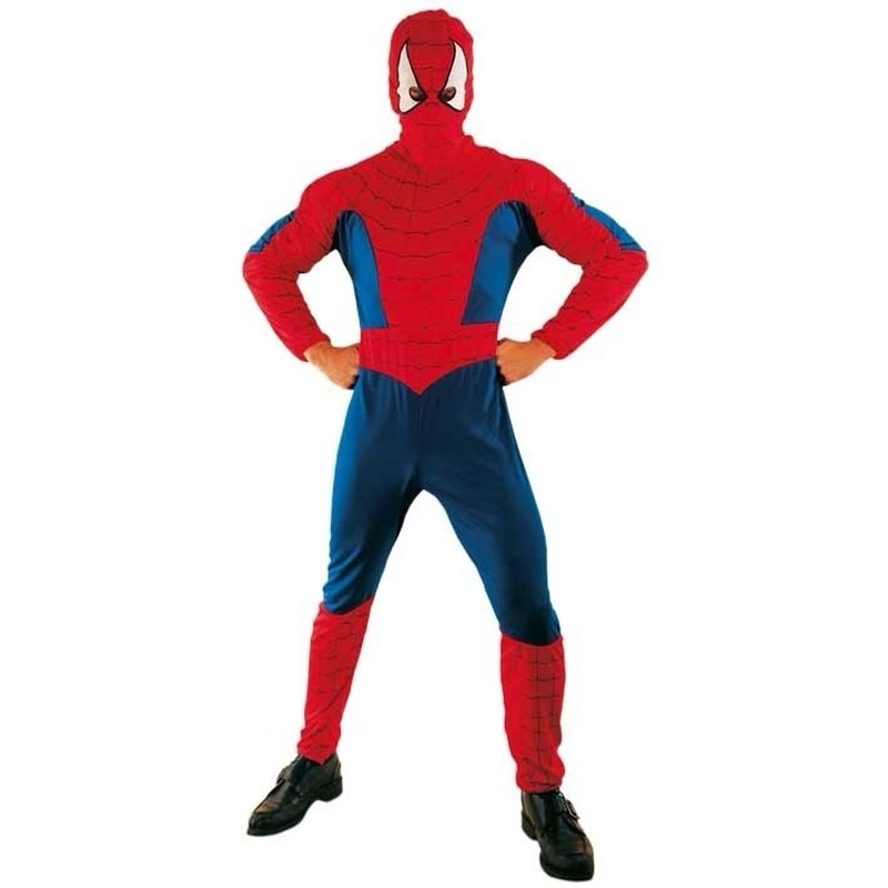 Voordelige spinnenheld outfit voor volwassenen