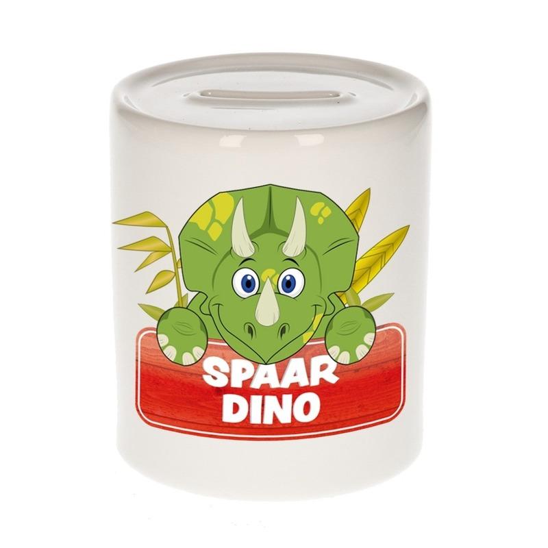 Vrolijke dinosaurus spaarpotten 9 cm