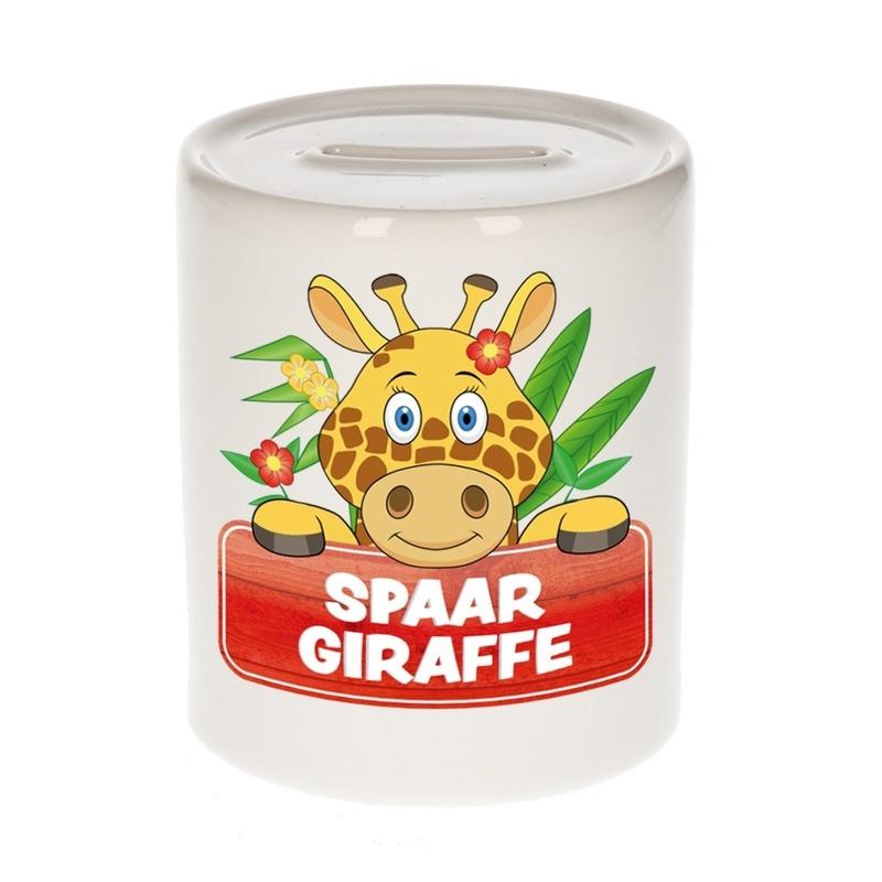 Vrolijke giraffe spaarpotten 9 cm