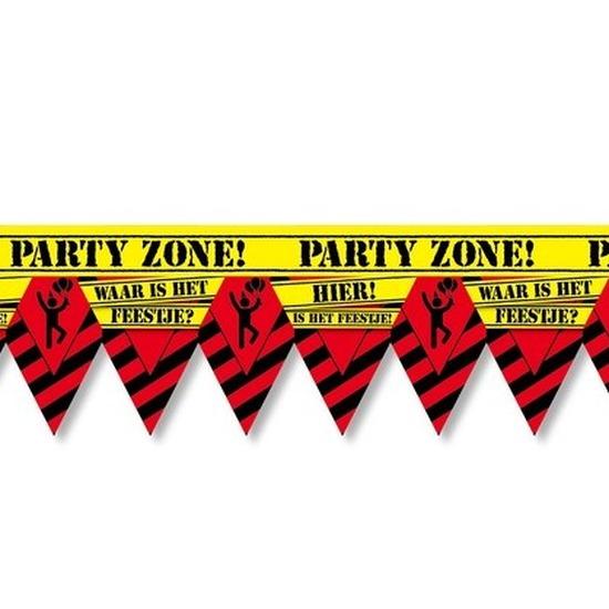 Waar is dat feestje party tape/markeerlint waarschuwing 12 m