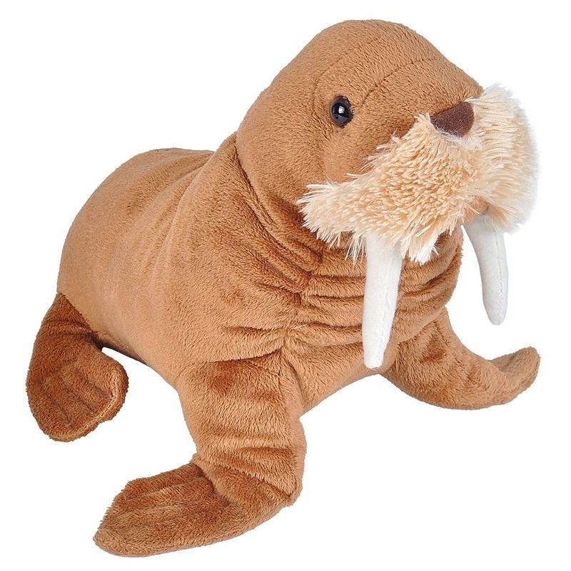Walrussen speelgoed artikelen walrus knuffelbeest bruin 27 cm