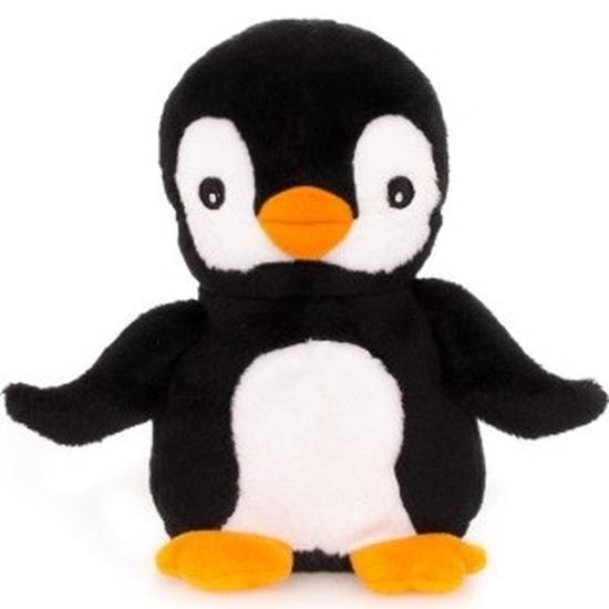 Warme knuffel kruik pinguin 13 cm