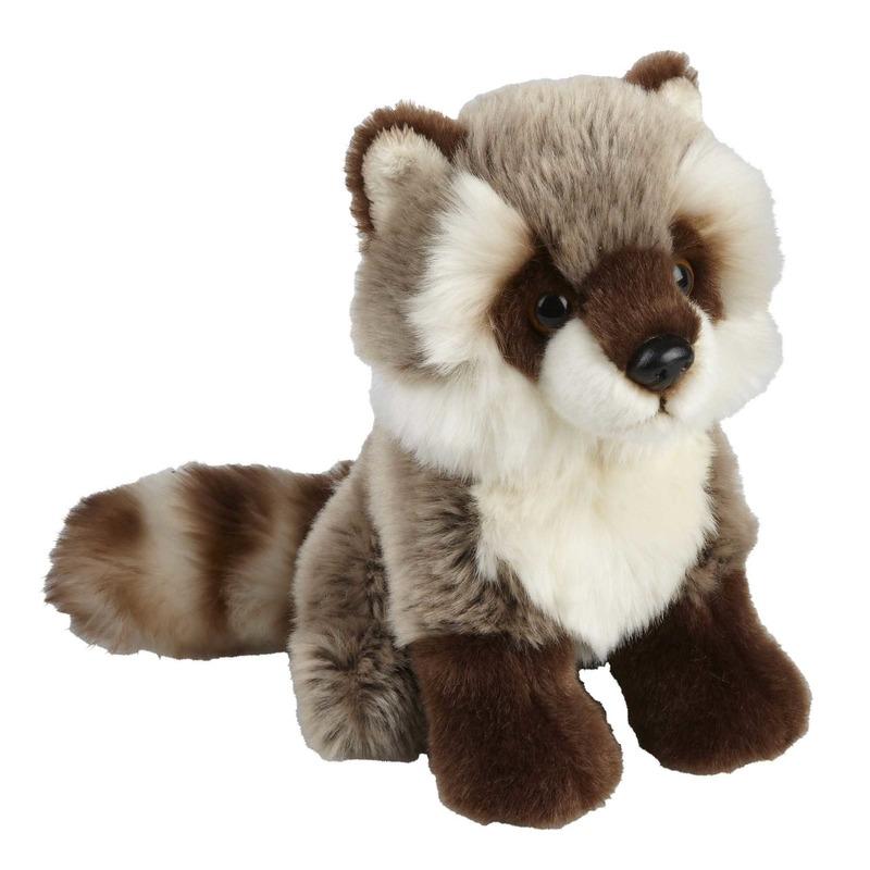 Wasberen speelgoed artikelen wasbeer knuffelbeest grijs 18 cm