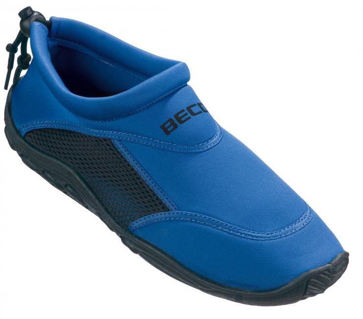 Waterschoen blauw met anti-slip zool