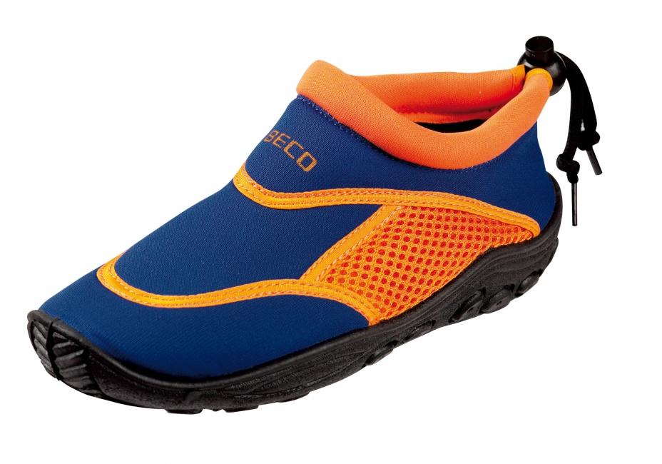 Waterschoen met anti-slip zool blauw en oranje