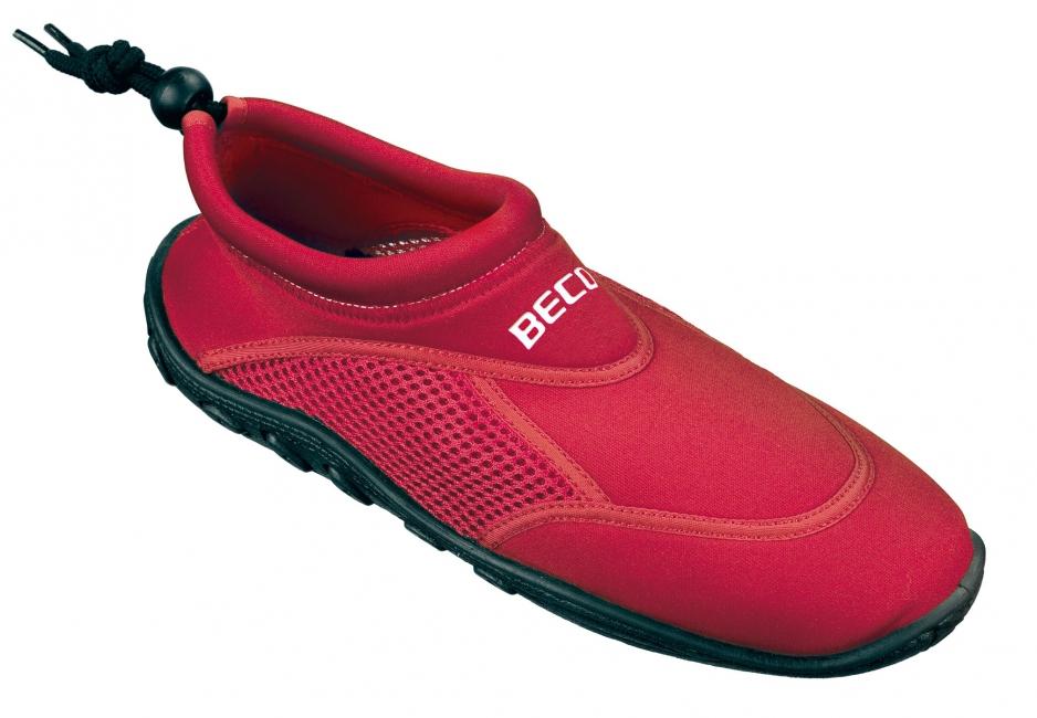 Waterschoen met anti-slip zool rood