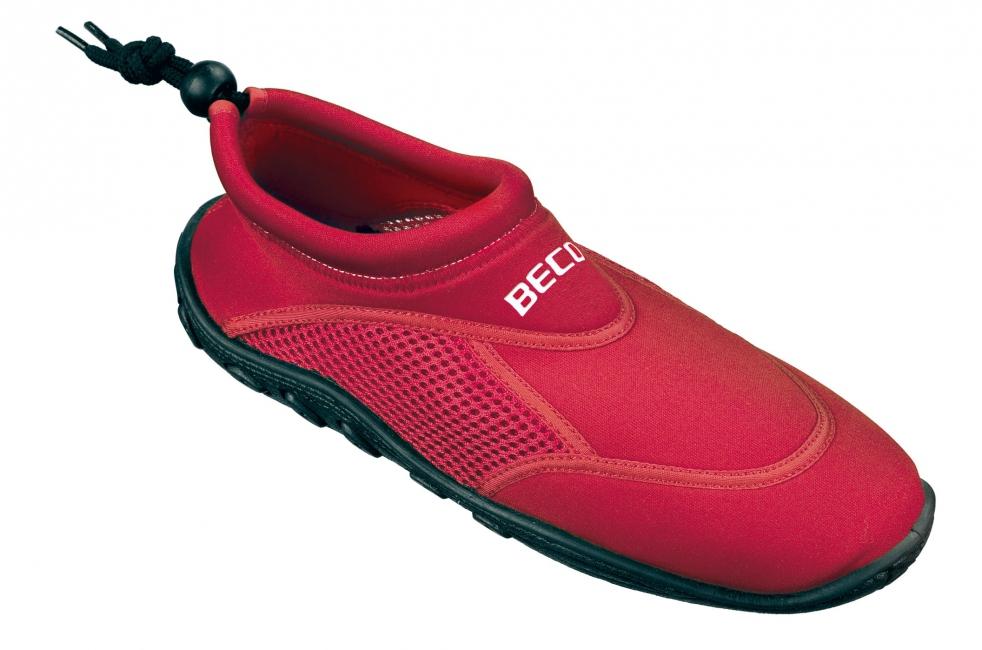 Waterschoen rood met anti-slip zool