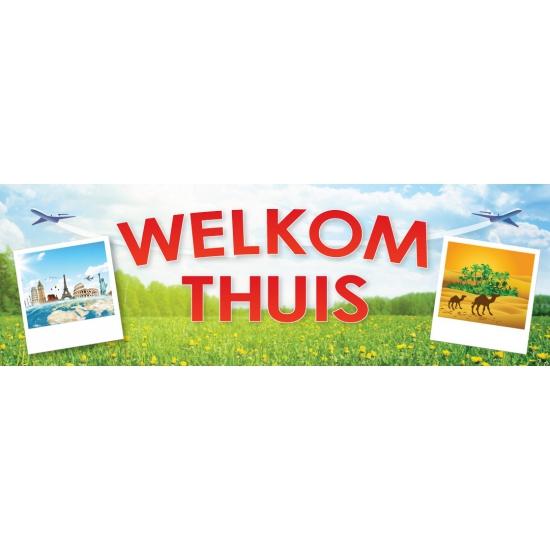 Welkom thuis sticker 19.6 x 6.5 cm