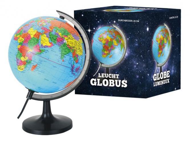 Wereldbollen 20 cm met lampje