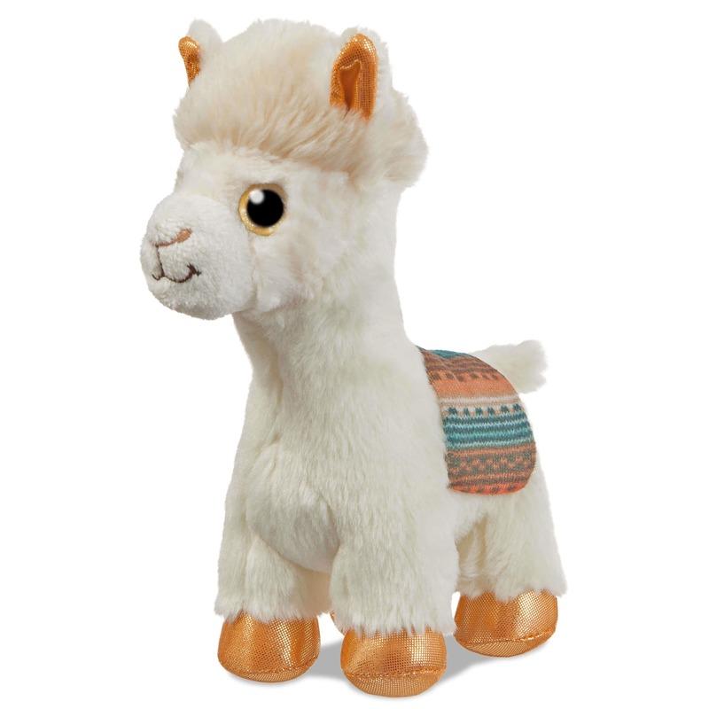 Witte alpacas speelgoed artikelen alpaca knuffelbeest 18 cm
