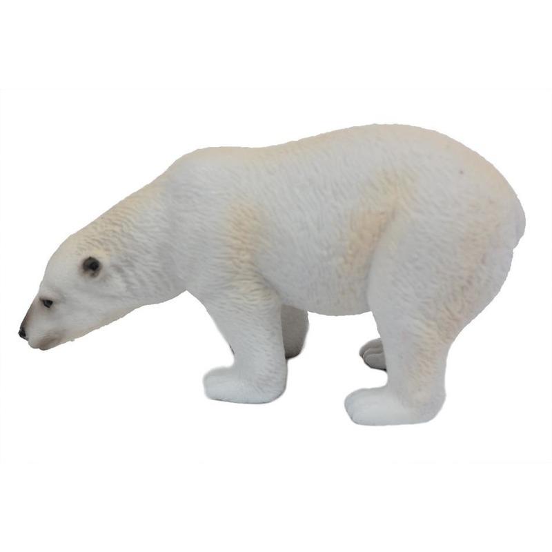 Witte plastic ijsbeer 11 cm
