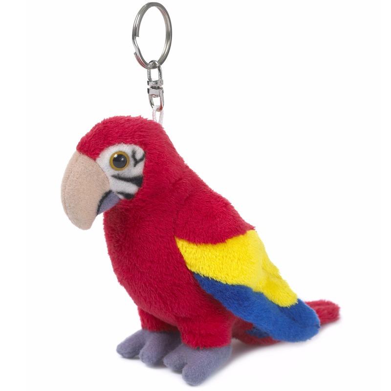 WNF pluche papegaai sleutelhanger mini knuffel 10 cm