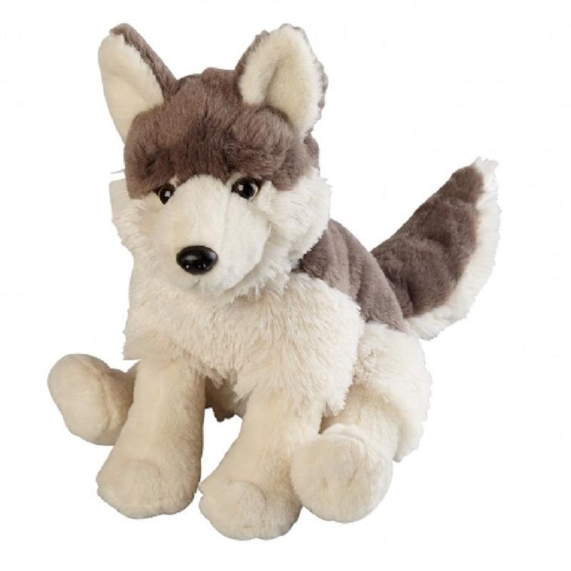 Wolven speelgoed artikelen wolf knuffelbeest grijs 30 cm